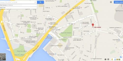 Mapa Hotel Villa Colonial